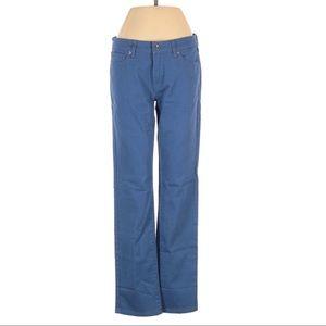 Uniqlo Slim Straight Blue Boyfriend Fit Pants